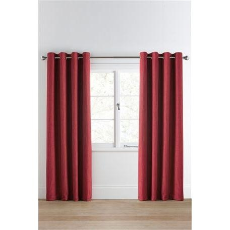Tonal Weave Eyelet Curtains