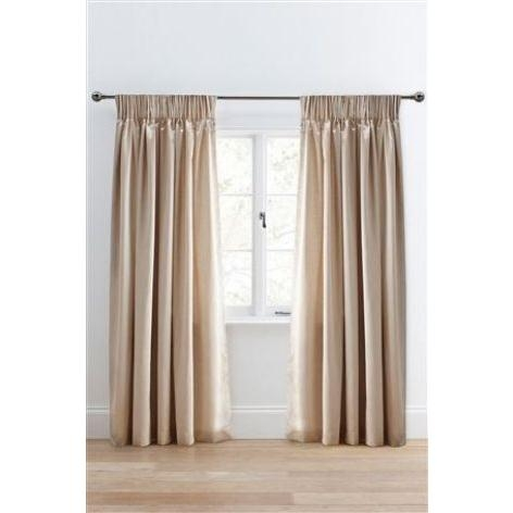 Pencil Pleat Champagne Curtains