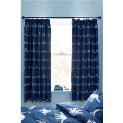 Dinosaur Pencil Pleat Blackout Curtains