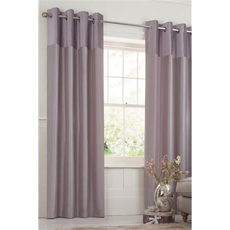 Plush Band Eyelet Curtains