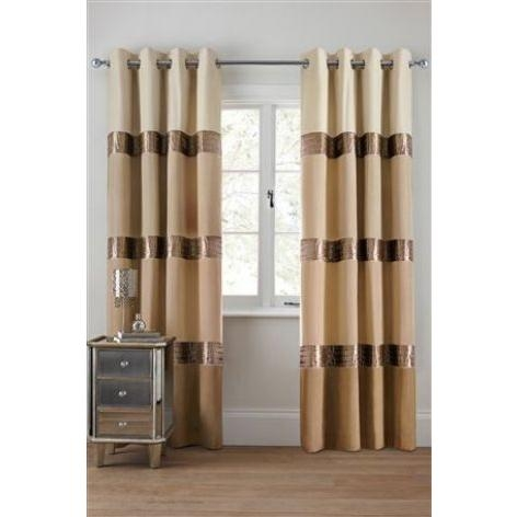 Velvet Panel Eyelet Curtains