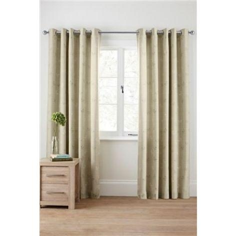 Butterfly Print Eyelet Curtains
