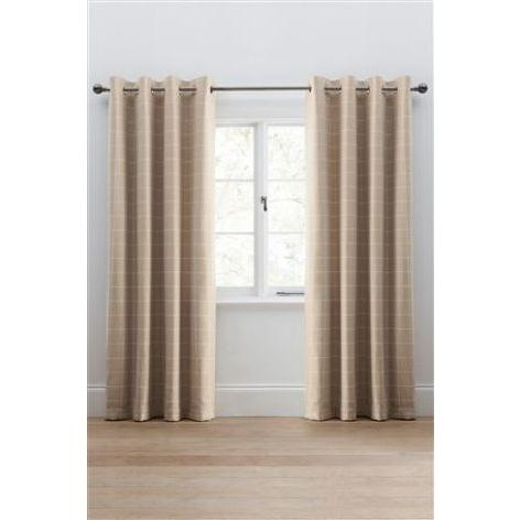Homely Check Lawson Eyelet Curtains