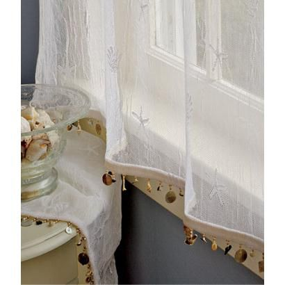 Seaside Lace Trimmed Tier Panel