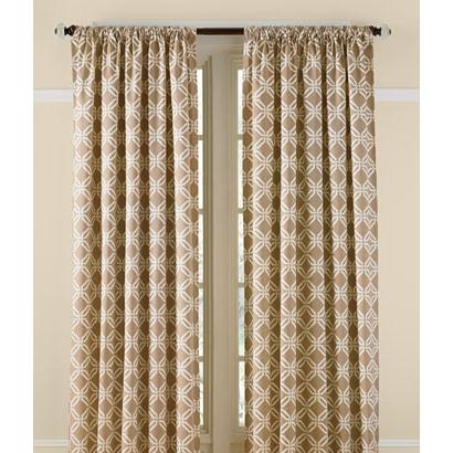 Elegant Links Lined Rod Pocket Curtains