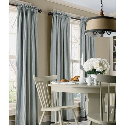 Ticking Stripes Rod Pocket Curtains