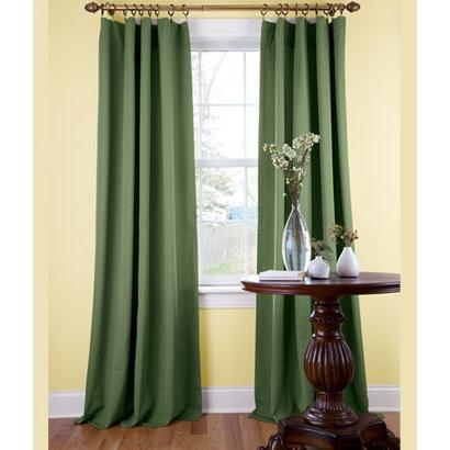 Cotton Ottoman Lined Rod Pocket Curtains
