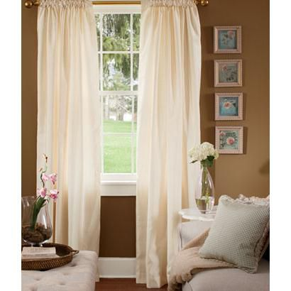 Premium Faux Silk Lined Rod Pocket Curtains