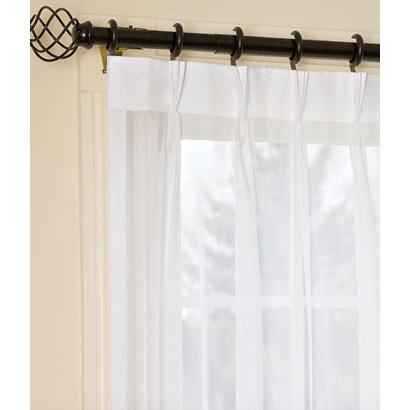 Country Curtains Pinch Pleat Sheer Slider Panel