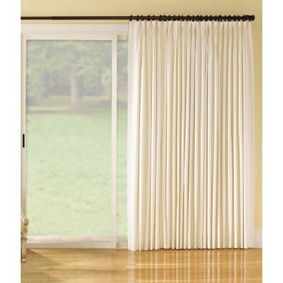 Insulated Weaver's Cloth Pinch Pleat Slider Panel