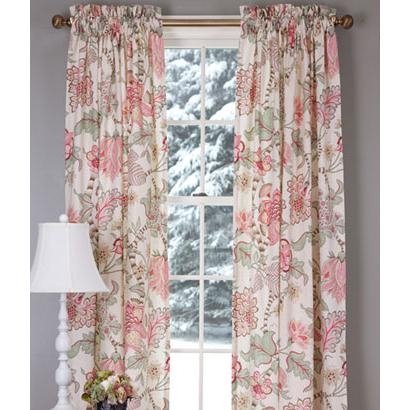 Soft English Floral Lined Rod Pocket Curtains