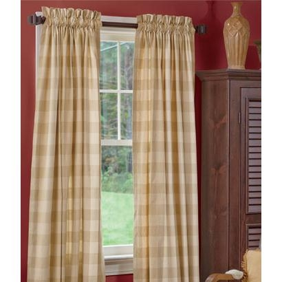 Tonal Check Rod Pocket Curtains