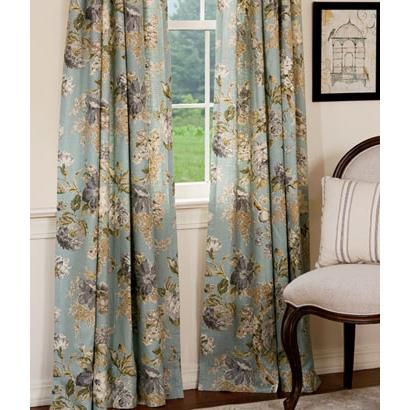 Floral Essence Lined Rod Pocket Curtains
