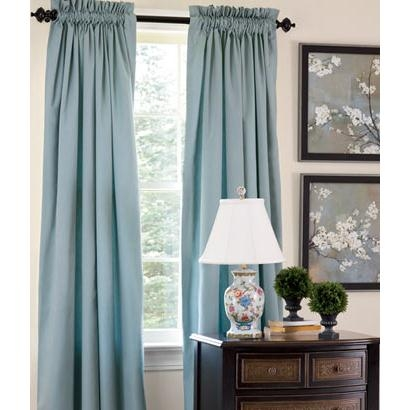 Cotton Sateen Lined Rod Pocket Curtains