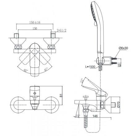 Vòi Sen Tắm TOTO TTMR302/TTSR106EMF Nóng Lạnh - Showroom Đại Hoàng Dương