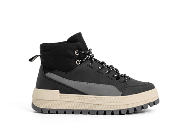 Black Hiker Sneakers