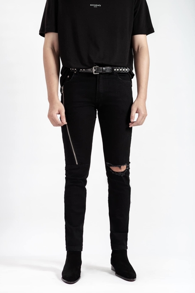 Long Zipper Jeans