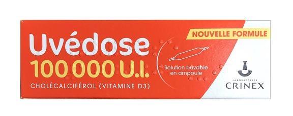 Vitamin D3 Uvedose liều cao 100000 UIcủa Pháp