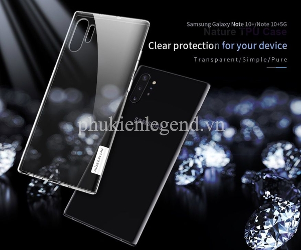 Ốp lưng dẻo trong suốt Nillkin Nature Series cho Samsung Note 10 Plus
