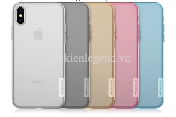 Ốp silicon dẻo trong suốt iPhone Xs Max Nillkin Nature