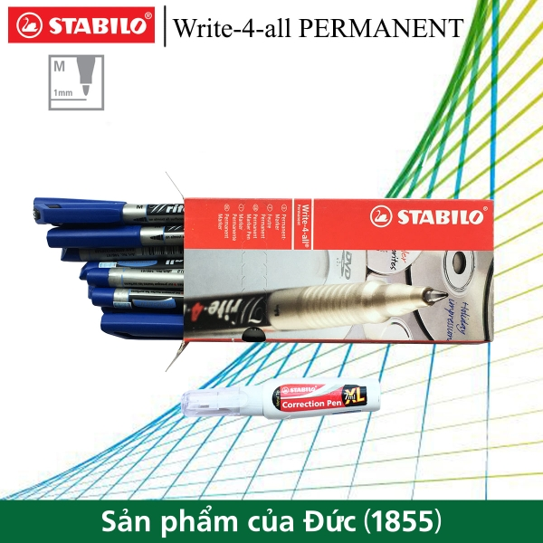 hop-10-but-ky-thuat-stabilo-write-4-all-permanent-m-1-0mm-but-xoa-stabilo-cps88-