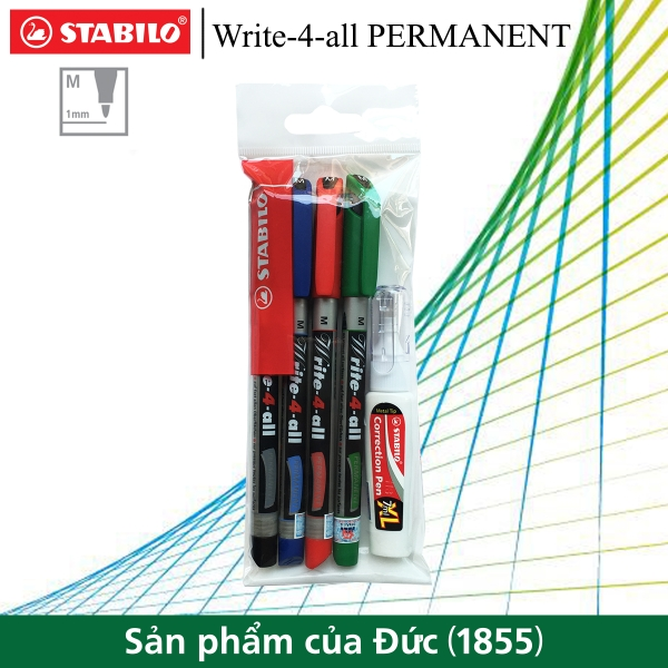 bo-4-but-ky-thuat-stabilo-write-4-all-permanent-m-1-0mm-but-xoa-stabilo-cps88-ap