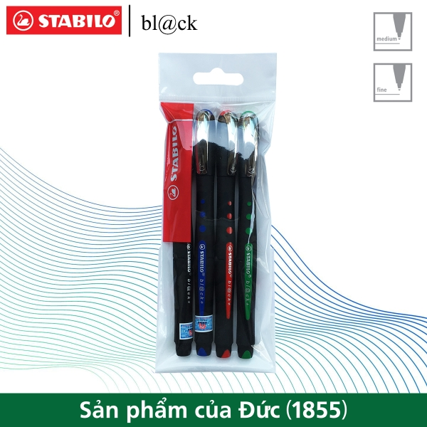 bo-4-but-bi-ky-stabilo-bl-ck-f-0-7mm-xanh-do-den-xanh-la-blkf-c4
