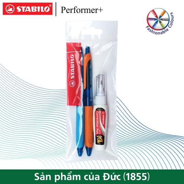 bo-2-cay-but-bi-stabilo-performer-328-xf-f-mau-xanh-but-xoa-correction-pen-cps88