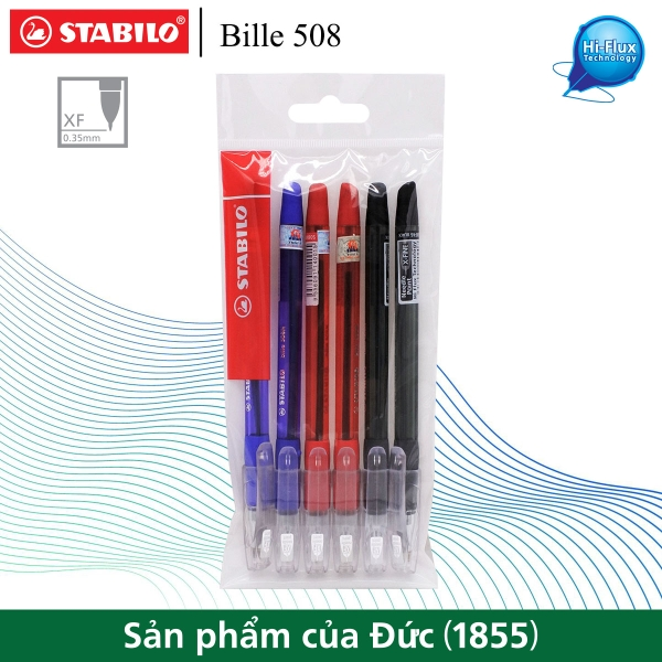 bo-6-cay-but-bi-stabilo-bille-508nxf-2-xanh-2-do-2-den-bp508nxf-c6