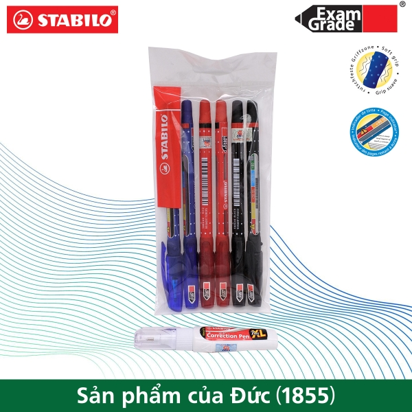 bo-6-cay-but-bi-stabilo-examgrade-588f-2xanh-2do-2den-but-xoa-correction-pen-cps
