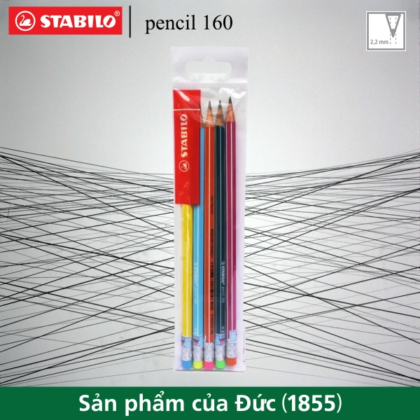 bo-5-cay-but-chi-go-stabilo-pencil-160-co-gom-5-mau