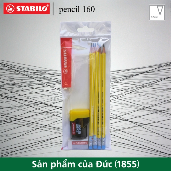 bo-6-cay-but-chi-go-stabilo-pencil-160-co-gom-vang-gom-conqueror-193-chuot-examg
