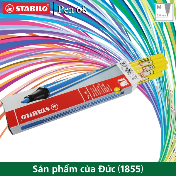 hop-10-but-long-stabilo-pen-68-1-0mm-vang-chanh-pn68-10-24