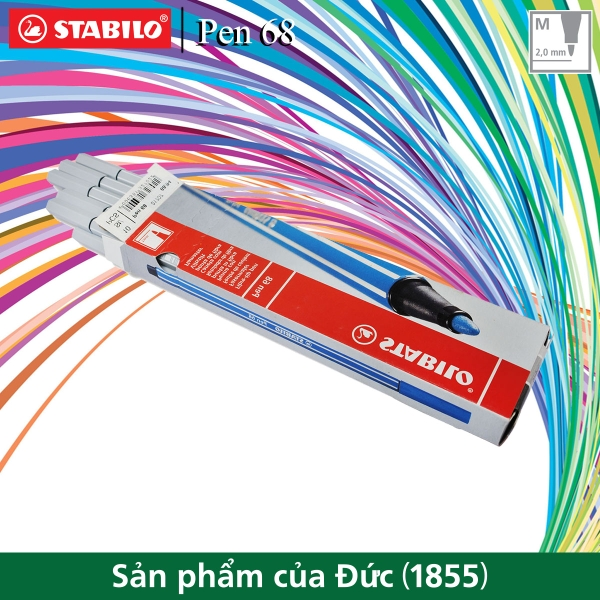 hop-10-but-long-stabilo-pen-68-1-0mm-xam-nhat-pn68-10-94
