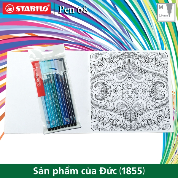 bo-9-but-long-stabilo-pen68-1-0mm-mau-xanh-sach-to-mau-sacb-pn68-bu-c9g