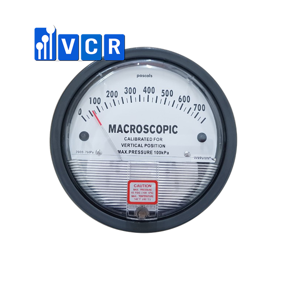 Clean Room Differential Pressure Gauge 0 – 750 Pa