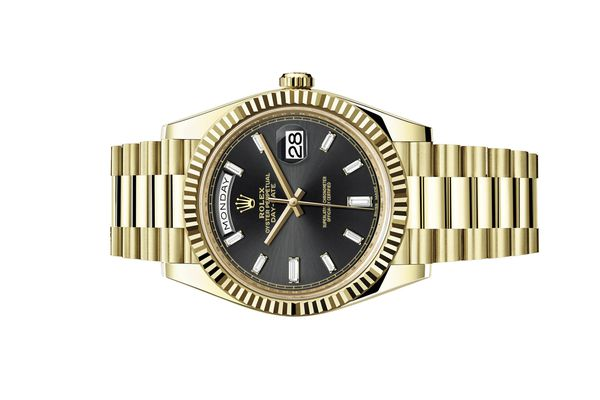 Rolex Day-Date 40 228238 Black With Diamonds
