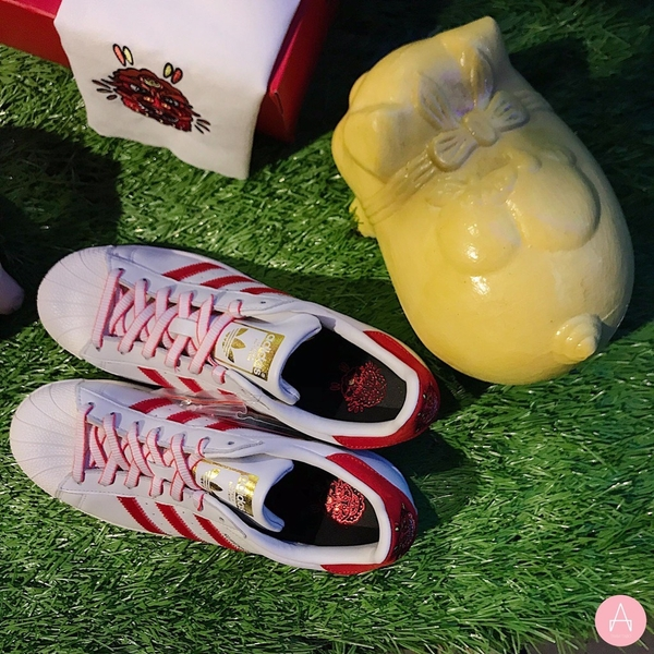 [G27571] M ADIDAS SUPERSTAR CNY WHITE RED 2019