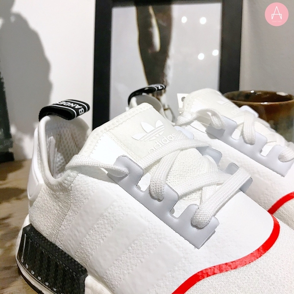 [EE5086] M ADIDAS NMD R1 WHITE SOLAR RED