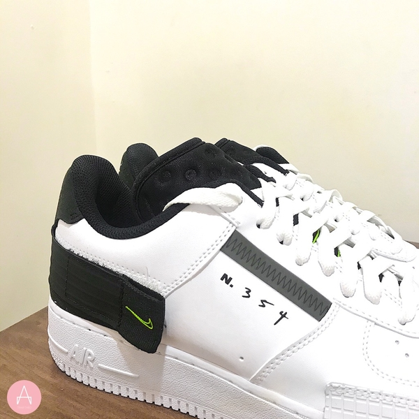[AT7859-101] M NIKE AIR FORCE 1 TYPE N.354 WHITE BLACK VOLT