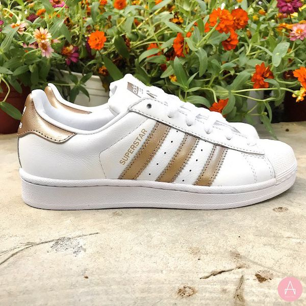 [CG5463] W ADIDAS SUPERSTAR WHITE ROSE GOLD