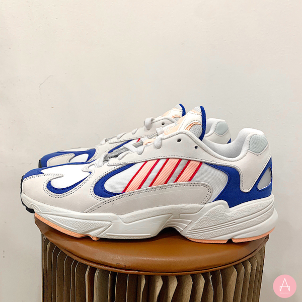 [BD7654] M ADIDAS YUNG-1 WHITE ORANGE ROYAL