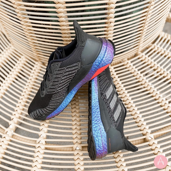 [EG2363] M ADIDAS SOLARBOOST 19 - CORE BLACK/SOLAR RED