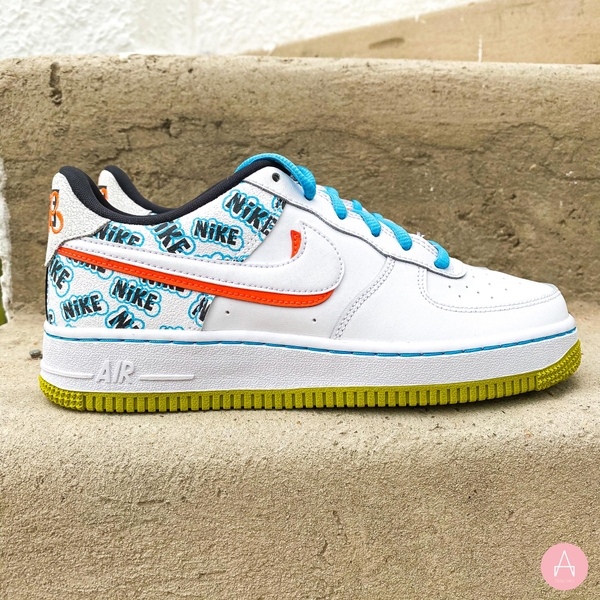 [CZ8139-100] K NIKE AIR FORCE 1 LOW ''BACK TO SCHOOL' WHITE/HYPER-CRIMSON