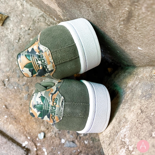 [AQ1217] K ADIDAS CAMPUS BASE CAMO GREEN