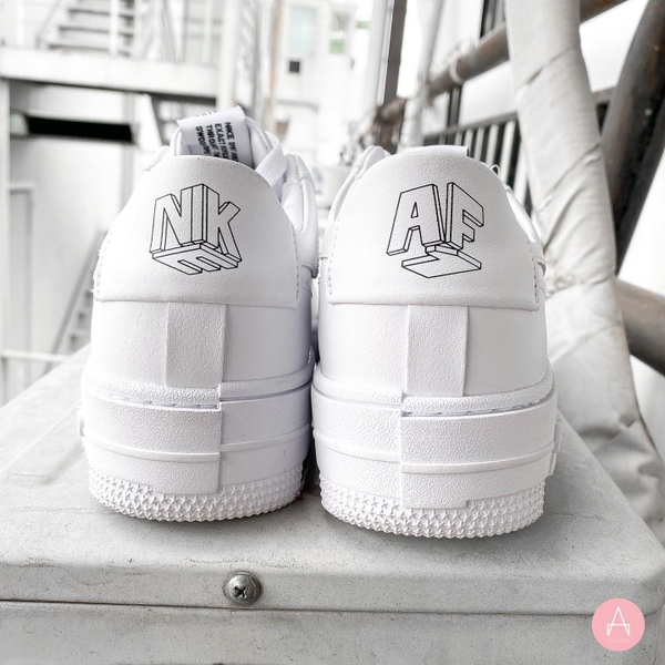 [CK6649-100] W NIKE AIR FORCE 1 PIXEL WHITE