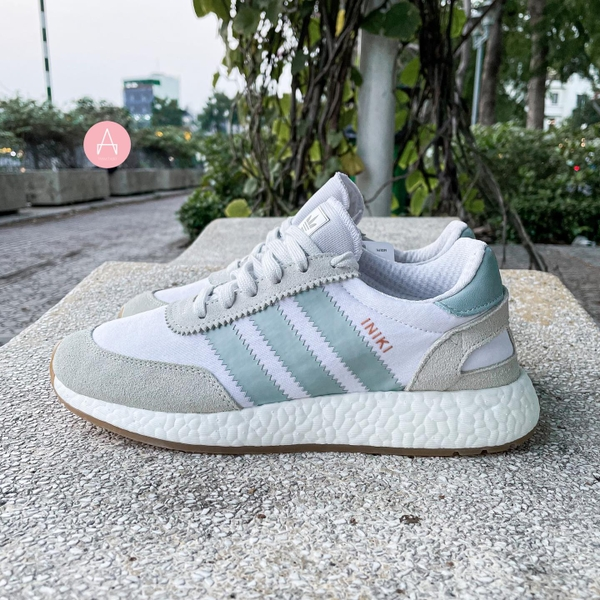 [BY9092] W ADIDAS INIKI RUNNER WHITE BLUE