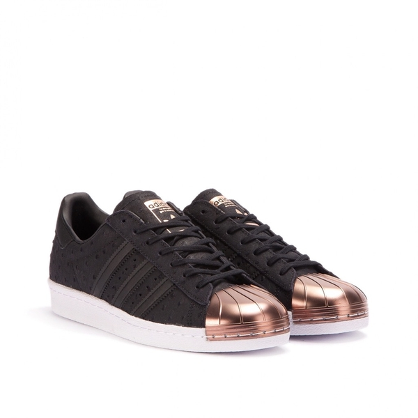 [S76712] W ADIDAS SUPERSTAR 80s BLACK GOLD METAL TOE