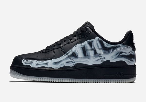 [BQ7541-001] M NIKE AIR FORCE 1 BLACK SKELETON