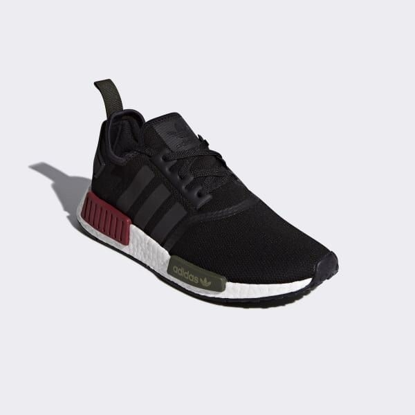 [BB7791] M ADIDAS NMD R1 BLACK WHITE RED